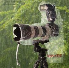 2 X Op/Tech Rainsleeve Flash, la lluvia y el polvo cubre para DSLR con Lente Y Flash