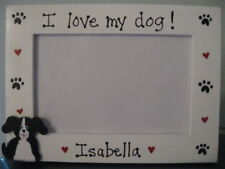 Dog frame - I LOVE MY DOG - personalized custom pet photo picture frame