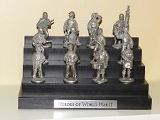 Heroes of Ww Ii Collector's Pewter Set of 12 Figures With Display D-Day 75th