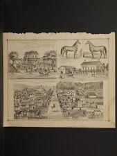 Ohio, Portage County Map, 1874, Tenement Engravings, De Forest Weld, J1#56