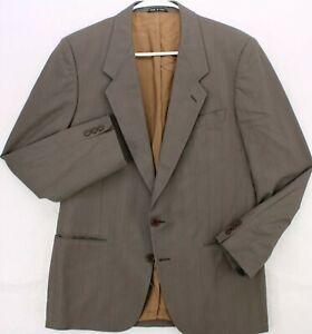 CARLO PALAZZI Vtg 80s 90s GRAY STRIPED BLAZER SPORT COAT SUIT JACKET MEN'S 40S