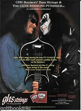 GHS Strings Bass Boomers /Punisher -Kiss Gene Simmons - 1996 Print Advertisement