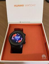 Huawei Watch 2 45mm Plastic Case Black Rubber Strap Smart Watch