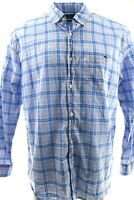 Mens VINEYARD VINES Blue Pink White Plaid Slim Fit TUCKER Shirt XXL Whale