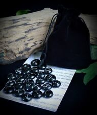 25 GLASS RUNE STONES & Velvet BAG Wicca Pagan Witchcraft Runes Divination