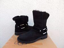 UGG CLASSIC CEDRIC BLACK SUEDE/ SHEEPSKIN BOOTS, US 9/ EUR 40 ~NEW
