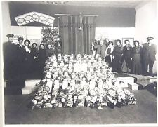 Cabinet Photo of Greely Colorado Salvation Army Food Drive Members c1900