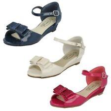 Spot On Girls Glitter Open Toe Sandals
