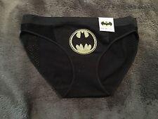 Batman Character Panty Brief Underwear NWT Sz S Free S&H Black W/logo Seamless