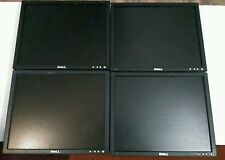 "Lot of 4 working 17"" Dell Monitors with stand."