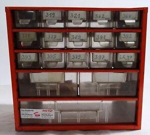 Schubladenschränkchen aus Blech, 5-reihig, Mars