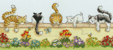 Bothy Threads ~ Counted Cross Stitch Kit ~ Lazy Cats in the Garden ~ XGR1