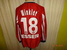 "Rot Weiss Essen Nike Langarm Matchworn Trikot 2001/02 ""RWE"" + Nr.18 Winkler Gr.M"