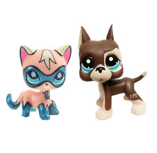 Littlest Pet Shop Comic Con Masked Superhero Shorthair Kitty  Cat&brown dog