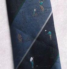 Vintage Golf Tie Mens Necktie Retro Sport Golfing Club Tootal