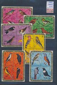 XC89652 Burundi 1970 airmail birds animals fine lot MNH cv 85 EUR