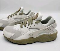 Nike Air Huarache Run Running Shoes Light Bone Olive 318429-050 Men's Size 10