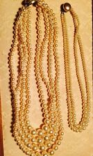 LOT OF 2 NECKLACE BEADED JAPAN JEWERLRY F-E2