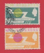 "1965 HONG KONG CHINA QEII STAMPS ""CENTENARY OF ITU"" SG£5.75 used"