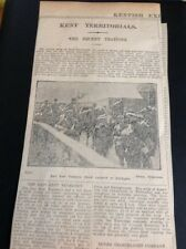 K2-9 Ephemera 1910 Article Kent Territorials The Recent Training Yeomanry Patrol