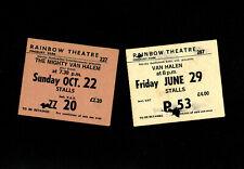 More details for van halen: 2 x ticket stubs 1978, 1979 inc. rainbow theatre