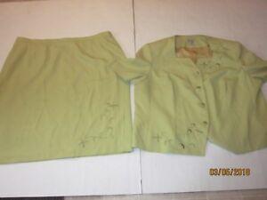EMILY misses plus 28w skirt Suit blazer jacket 2pc set power business j147
