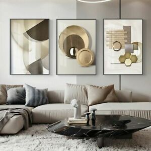 Abstract Geometric Canvas Painting Modern Posters And Prints Luxury Wall Art New