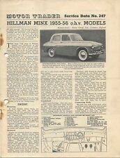 Hillman Minx 1955-56 o.h.v. models Motor Trader Service Data No. 247 1956