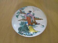 JAPANESE MEIJI SATSUMA KOGO KINKOZAN KOGO INCENSE BOX CEREMONIAL TEA SIGNED