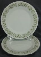 Noritake Wynwood 6879 Dinner Plates Lot of 2 Japan Green Flowers on Rim