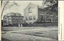 Clinton MA Library & Holden Memorial c1910 Postcard