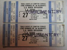 L.A. GUNS UNUSED COMPLIMENTARY TICKETS 8/27/1988 PHOENIX AZ 1ST ALBUM TOUR RARE
