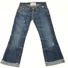 "BIG STAR Thick Stitch ""LIV"" Jeans Cropped Into Capris Womens 24x21.5"