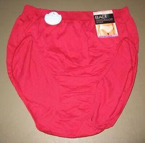 BALI~10 11~303J~Armature Red Comfort Revolution Microfiber Hi-Cut Panty