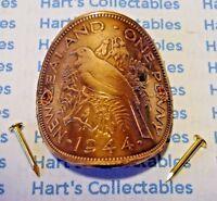WALKING STICK OR HIKING POLE BADGE IRISH HARP 3 cm HIGH,