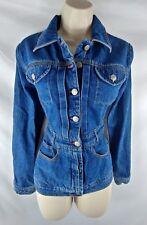 BCBG Max Azria NEW Blue Jean Denim Jacket Ladies M