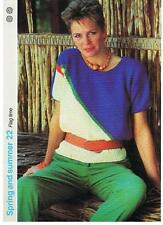 FLAG TIME knitting pattern, sweater- Marshall Cavendish pamphlet SS22