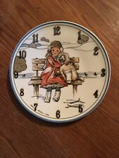 Let's Be Friends Girl and Her Poodle Clock !