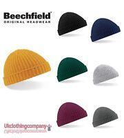 Beechfield Unisexe Tricot Épais Chapeau Bonnet Hiver Trawler Pêcheur Rétro