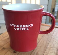 Starbucks Mug Red Stoneware Cup Large Size 2008 Coffee Lover