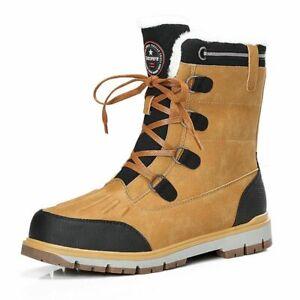 Nuevas botas zapatos para hombres trabajo  felpa de invierno nieve cálidos 12