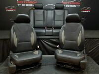 2006 PONTIAC G6 COUPE Set of Front & Rear Leather Seat Black 193 (Rips)
