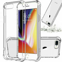 For iPhone 7 Plus 8 Plus Thin Hybrid Shockproof Thin Clear TPU Cover Bumper Case