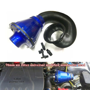 Universal Modified Air Intake Bellows Filter Car HighFlow Cold Air Inlet Cleaner