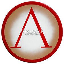 Classic Round GREEK LAMBDA SHIELD -- sca/larp/spartan/trojan/troy/300/armor
