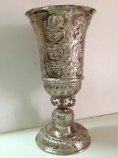 Antique white metal big royal cup 19TH England France UK French RARE (m1866)