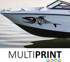 2 X Pegatinas Calcomanías Personalizadas Barco hueso de pescado nombre de vinilo de gráficos Libre P&P barco 1