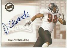DWAN EDWARDS CERTIFIED Auto 2004 Press Pass card Oregon State Beavers Football