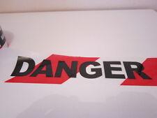 DANGER BARRIER TAPE. 75MM X 100 METERS ROLL. TWIN PACK.