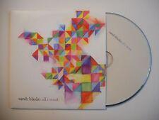 SARAH BLASKO : ALL I WANT [CD SINGLE PORT GRATUIT]